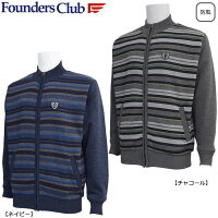 FoundersClubメンズフルZIP防風セーターFC-0210W
