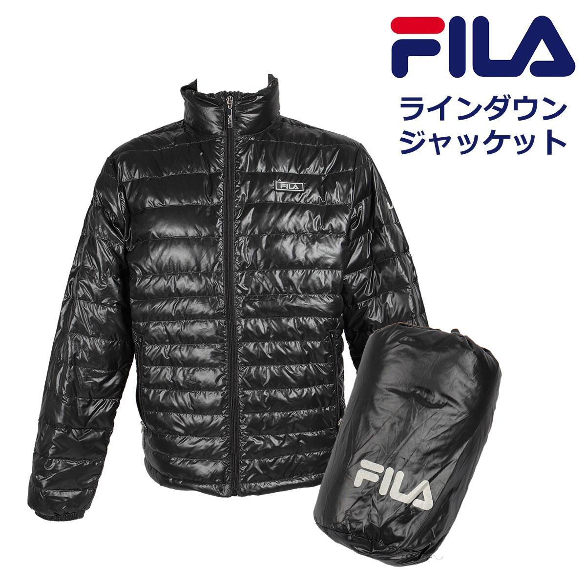 軽くて薄い 防寒 フィラ ライト ダウンジャケット メンズ 冬 アウター FILA FH7380【あす楽】