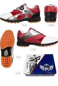 無料特典付きゴルフメンズスパイクレスシューズダイヤル式ワイヤー紐を採用軽量柔らか設計なので歩きやすく疲れにくい男性用靴多少の雨や水の侵入を防ぐ防水性能