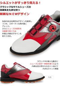 無料特典付きゴルフメンズスパイクレスシューズダイヤル式ワイヤー紐を採用軽量柔らか設計なので歩きやすく疲れにくい男性用靴多少の雨や水の侵入を防ぐ防水性能【add-option】