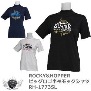 ロッキー&ホッパー ビッグロゴ半袖モックシャツ RH-1773SL