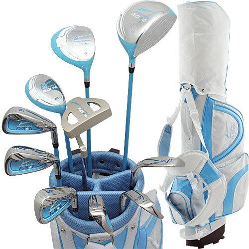 ワールドイーグル FL-01★V2 レディース13点ゴルフクラブセット ブルー【初心者 初級者 ビギナー】【ssclst】