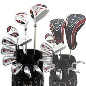 ワールドイーグル 5Zフルセット+CBXキャディーバック ホワイト+ホワイト・レッドver 14点ゴルフクラブセット 右利き用【初心者 初級者 ビギナー】【あす楽】
