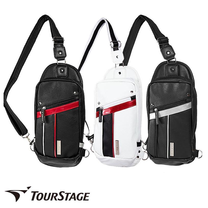 ゴルフ有名ブランド ツアーステージ メンズ用ボディバック(ワンショルダー、ショルダーバッグ)スポーティーでシンプルなデザイン。大変丈夫なレザー調の高級感ある合皮製。サイクリングや旅行、ビジネス出張や学生さんの通学まで。【あす楽】