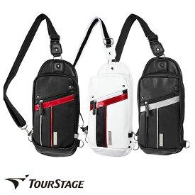 ゴルフ有名ブランド ツアーステージ メンズ用ボディバック(ワンショルダー、ショルダーバッグ)スポーティーでシンプルなデザイン。大変丈夫なレザー調の高級感ある合皮製【add-option】【ssglbg】