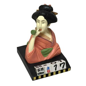 セトクラフト SR-2552-160 浮世絵風 万年カレンダー(ビードロを吹く女)