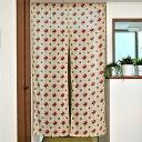 のれん ダマスクローズのれん 85×150cm インド綿100% プリントのれん 暖簾 のれん レトロ 花柄 薔薇 ヴィンテージ …