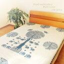 マルチカバー 刺繍 150×225cm インド綿100% パッチワーク 手刺繍 長方形 手作り ソファーカバー 掛けるだけ ベッド …