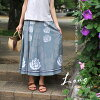 Floral skirt / long skirts and wrap skirt and knee-length length / MIME / ethnic / Asian / fashion / spring / summer-rose women's summer fashion