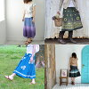 Wrap skirt because it and grab two random MIX India cotton Reel Asian skirt skirt knee-length skirt ethnic fashion