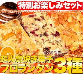 【送料無料!最安挑戦】訳あり フロランタン3種どっさり1kg (プードル・オレンジ・ショコラ)