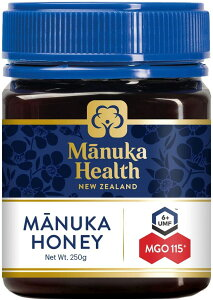 マヌカヘルス マヌカハニー MGO115+ UMF6+ 250g 正規輸入品 ニュージーランド産 蜂蜜 はちみつ 送料無料 即日発送