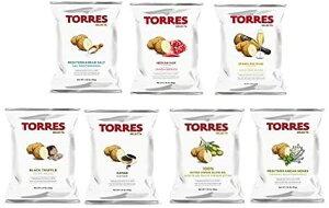 7袋セット トーレス TORRES ポテトチップス 7種のフレーバー スペイン産 プレミアムポテトチップス 送料無料