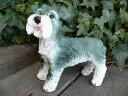 犬の置物 シュナウザー おまけ いぬ イヌ 2607H ガーデン オブジェ オーナメント 動物 置物 ガーデニング インテリア