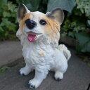 犬の置物 パピヨン(S) 805-1 訳あり いぬ イヌ 動物 オーナメント ガーデン ガーデニング マスコット オブジェ 庭 置物 陶器 雑貨