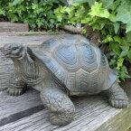 亀の置物かめカメタートル1540QYL動物置物玄関オブジェガーデンオーナメントガーデニングガーデンオブジェアニマルリアル庭