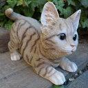 猫の置物 とび猫(グレー) キャット ガーデンオブジェ CAT 12610N  動物 オーナメント ネコ 雑貨 ガーデン インテリア