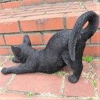猫の置物伸び猫黒猫N13444キャットガーデンオブジェCAT動物オーナメントネコ雑貨ガーデンオブジェガーデニングインテリアマスコットアニマルリアルディスプレィねこグッズ