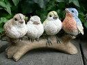 森の仲間たち バード4羽セット 小鳥 とり トリ 11011N オーナメント ガーデン オブジェ ガーデニング オブジェ 置物 ガーデンマスコット リアル ディ...