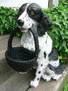 犬の置物 大型犬 ワンズバスケット N11310 いぬ イヌ 動物 オーナメント ガーデン インテリア 雑貨 置物 庭 ガーデンマスコット