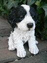 犬の置物 コカプー いぬ イヌ 動物 N2236 オーナメント ガーデン オブジェ 庭 雑貨 ガーデニング インテリア 雑貨 マスコット