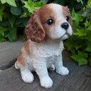 犬の置物 チャールズスパニエル いぬ イヌ 動物 T14073 オーナメント ガーデン オブジェ 庭 雑貨 ガーデニング インテリア 雑貨 マスコット リアル デスプレィ アニマル