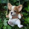 犬の置物エンジョイブランコチワワ71QYいぬイヌ動物オーナメントガーデンオブジェ庭雑貨ガーデニングインテリア雑貨マスコットリアルデスプレィアニマル
