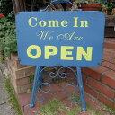 アンティーク調 オープン&クローズスタンド M7042 オープンスタンド アイアン ウェルカムプレート 看板 エクステリア ガーデニング サイン ガーデン 玄関...