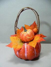 ハロウィン パンプキンアップルアレンジ 3540 オーナメント 造花 花束 シルクフラワー 装飾 ハロウィングッズ 飾り 置物 かぼちゃ カボチャ アップル