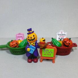 ハロウィン パンプキンディナー4品セット 8HA11 オーナメント パンプキン ハロウィングッズ 飾り 置物 かぼちゃ カボチャ フィギュア 魔女 オブジェ 置き物 マスコット ガーデンマスコット パーティー キャット 収穫祭