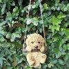 犬の置物エンジョイブランコプードル6429HTいぬイヌ動物オーナメントガーデンオブジェ庭雑貨ガーデニングインテリア雑貨マスコットリアルデスプレィアニマル