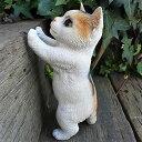 猫の置物 子猫立ポーズ三毛 MK81QY キャット ガーデンオブジェ CAT 動物 オーナメント ネコ 雑貨 ガーデン オブジェ …