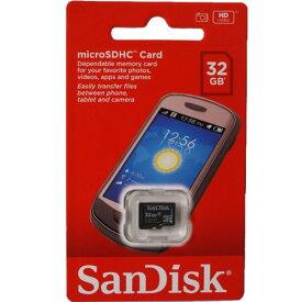 サンディスク SanDisk microSDHC 32GB(microSD 32GB) クラス4 海外パッケージ品