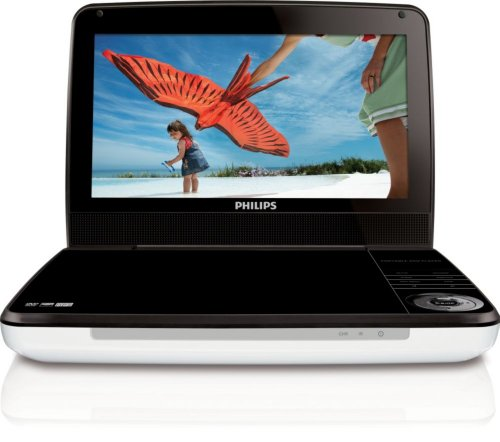 Philips PD9000/37 9-Inch LCD Portable DVD Player,White リージョンフリー