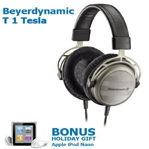 Beyerdynamic T1 Tesla Audiofile Stereo Headphone ヘッドフォン + BONUS HOLIDAY GIFT Apple iPod nano