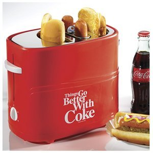 Coca-Cola Hot Dog Toaster: Things Go Better with Coke Kitchen Cooking Device