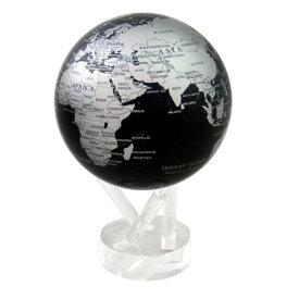 光で回る地球儀 ムーバグローブ MOVA Globe 6インチ 惑星・衛星シリーズ (シルバー&ブラックメタリック