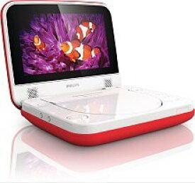 PD704/37 ポータブルDVDプレーヤー(7インチ) Philips社 White/Red