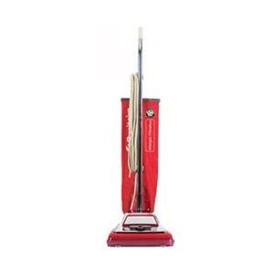 Electrolux Sanitaire Heavy-Duty Commercial Upright Vacuum 掃除機, 17.5lbs, Chrome/Red