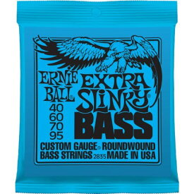 Ernie Ball (アーニーボール) 2835 Extra Slinky Electric Nickel Wound Bass Set (40 -95)