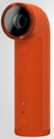 HTC RE 16MP 防水 HD デジタルビデオカメラ 広角レンズワイヤレス (Orange オレンジ)