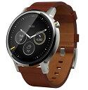 【第2世代】Moto 360 2nd Gen 2015 Smart Watch スマートウォッチ 腕時計 Android Wear iOS対応 (男性用