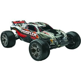Traxxas 37076 Rustler VXL: Stadium Truck Ready-To-Race Trucks (1/10 Scale), Colors May Vary おもち