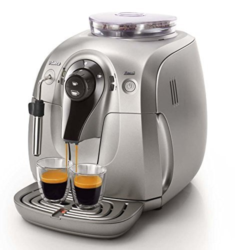 Philips Saeco HD8745/57 Chrome Expresso Machine, X-Small, Silver by Phillips Saeco