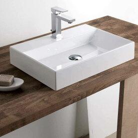 【送料無料】お手洗い一式セット 洗面ボウル 洗面ボール 手洗い鉢 洗面台 洗面器 手洗器 小型洗面所 浴室洗面台用 陶器製 長方形 セット(510*360*120mm)