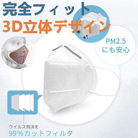 【転売禁止】【送料無料】KN95レベル マスク 不織布マスク ウイルス対策 フィルターマスク 立体 マスク 3層 マスク 吊り耳 10枚入PM2.5対策 ほこり 風邪 花粉 ホワイト 男女共用[返品不可]