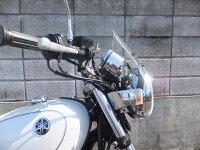SR400汎用ウインドスクリーンミニカウル風防バイク用クリアスモーク