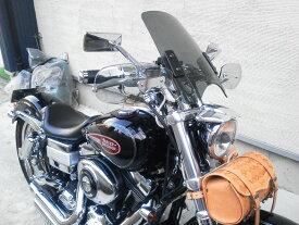 送料無料 HD ハーレー FXDL ダイナローライダー 汎用ウインドスクリーン ws-02クリア スモーク ウインドシールド 風防 シールドスクリーン ウインドプロテクター バイク 外装 パーツ カスタム World Walk ワールドウォーク あす楽
