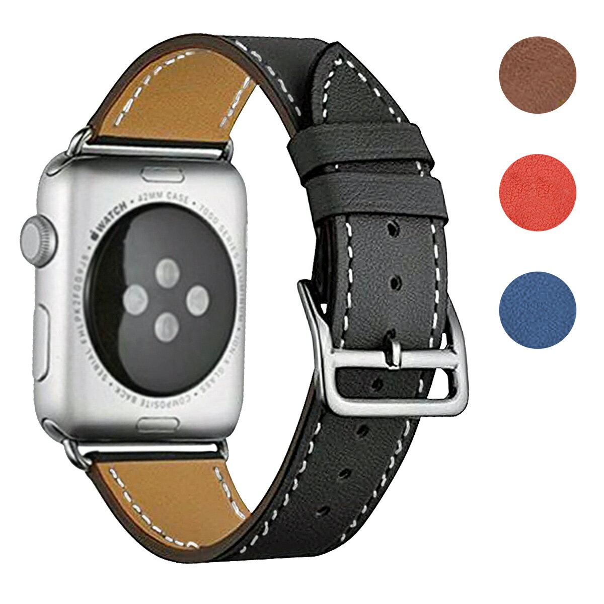 アップルウォッチ バンド 本革 レザーベルト コンパチブル 38mm 40mm 42mm 44mm applewatch 1.2.3.4対応