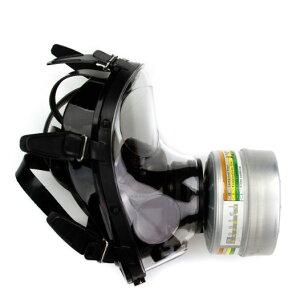 NBC緊急避難用マスク SGE150 防毒ガスマスク サリン対応 フルーフェイスタイプ フェルター付き 核放射性粉じん/ウイルス//細菌/催涙ガス 緊急避難 用  M/L成人男女